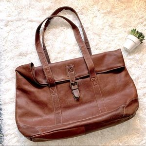 Vintage LL Bean BROWN PEBBLED X Large All Leather